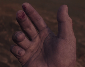 Avengers, Infinity, and Mad: In Avengers Infinity War, there is a close-up shot of Thanos's palm showing that he has calluses. This is because the directors wanted everyone to know The Mad Titan lifts regularly to maintain his strength and physique