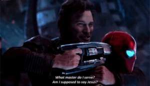 """In """"Avengers: Infinity War"""" we see Peter Quill mentioning Jesus to Iron Man, that means Jesus was the first on Earth to have superhuman powers making him, not Captain America, the first Avenger.: In """"Avengers: Infinity War"""" we see Peter Quill mentioning Jesus to Iron Man, that means Jesus was the first on Earth to have superhuman powers making him, not Captain America, the first Avenger."""