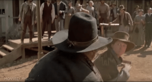 In Back to the Future Part III (1990), during the final showdown between Marty and Mad Dog, Marty's first punch is a left-handed punch, despite Marty's other punches being right-handed. This is a reference to his dad's unexpected left-handed knockout punch against Biff in 1955.: In Back to the Future Part III (1990), during the final showdown between Marty and Mad Dog, Marty's first punch is a left-handed punch, despite Marty's other punches being right-handed. This is a reference to his dad's unexpected left-handed knockout punch against Biff in 1955.