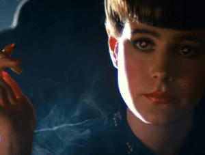 In Blade Runner (1982) Ridley Scott and Jordan Cronenweth achieved the famous 'shining eyes' effect by using a technique invented by Fritz Lang known as the 'Schüfftan Process': light is bounced into the actors' eyes off a piece of half mirrored glass mounted at a 45-degree angle to the camera.: In Blade Runner (1982) Ridley Scott and Jordan Cronenweth achieved the famous 'shining eyes' effect by using a technique invented by Fritz Lang known as the 'Schüfftan Process': light is bounced into the actors' eyes off a piece of half mirrored glass mounted at a 45-degree angle to the camera.