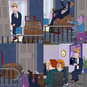 In Bojack Horseman, Tod wears mismatched shoes for the majority of the 5th season due to losing it earlier in the season: In Bojack Horseman, Tod wears mismatched shoes for the majority of the 5th season due to losing it earlier in the season