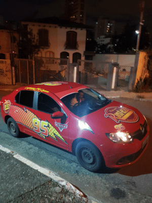 In Brazil, a guy called a Uber, then came Lightning McQueen. kachow!: In Brazil, a guy called a Uber, then came Lightning McQueen. kachow!