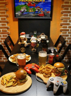 In Brazil we have this restaurante where you can play N64 while eating: In Brazil we have this restaurante where you can play N64 while eating