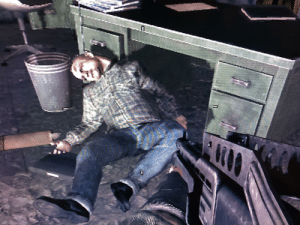 In Call of Duty: Black Ops (2011), Alex Mason believes that Viktor Reznov, a figment of his brainwashed imagination, is the defector with their needed intel. However, the real defector's dead body can be found in the room.: In Call of Duty: Black Ops (2011), Alex Mason believes that Viktor Reznov, a figment of his brainwashed imagination, is the defector with their needed intel. However, the real defector's dead body can be found in the room.