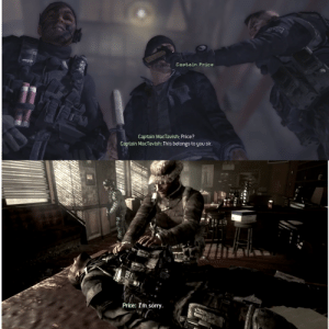 In Call Of Duty MW2 & 3, the pistol Soap gives to Price when he rescues him is the same pistol Price gives to Soap when he dies.: In Call Of Duty MW2 & 3, the pistol Soap gives to Price when he rescues him is the same pistol Price gives to Soap when he dies.