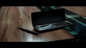 In CAPTAIN AMERICA: CIVIL WAR (2016), Tony whips out a pair of vintage pens, hoping that Steve will use one of them to sign the Sokovia Accords. Steve ultimately refuses. So metaphorically, Tony is the pen that's safely in the confines of the box (the Accords), while Steve is clearly the outlaw.: In CAPTAIN AMERICA: CIVIL WAR (2016), Tony whips out a pair of vintage pens, hoping that Steve will use one of them to sign the Sokovia Accords. Steve ultimately refuses. So metaphorically, Tony is the pen that's safely in the confines of the box (the Accords), while Steve is clearly the outlaw.