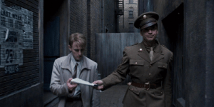 """In Captain America: The First Avenger, set during WWII, Bucky Barnes jokes to Steve Rogers that they're going to """"the future."""" This is in reference to the following scene where the two attend an exhibit for future technologies.: In Captain America: The First Avenger, set during WWII, Bucky Barnes jokes to Steve Rogers that they're going to """"the future."""" This is in reference to the following scene where the two attend an exhibit for future technologies."""