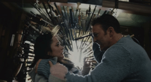 In Captain America: The Winter Soldier, Steve Rodgers attempts to stab the daughter of an illegal immigrant. This controversial decision was made by the Russo Brothers to represent our current immigration policies during the Trump administration: In Captain America: The Winter Soldier, Steve Rodgers attempts to stab the daughter of an illegal immigrant. This controversial decision was made by the Russo Brothers to represent our current immigration policies during the Trump administration