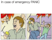 Case, Emergency, and Matic: In case of emergency PANIC  matic.ne