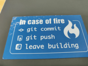 In case of fire: In case of fire