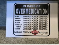 Local advertising, done right.: IN CASE OF  OVERMEDICATION  ADVIL CONTACT POISON CONTROL  AMBIEN CONTACT POISON CONTROL  ASPIRIN CONTACT POISON CONTROL  MOTRIN CONTACT POISON CONTROL  SUDAFED CONTACT POISON CONTROL  TYLENOL CONTACT POISON CONTROL  VALIUM CONTACT POISON CONTROL  CANNABIS CONTACTE 주주 z/972-733-1222  PizzaGuy.com Local advertising, done right.