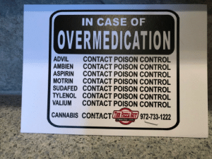Local advertising, done right. via /r/funny https://ift.tt/2zYeQAu: IN CASE OF  OVERMEDICATION  ADVIL CONTACT POISON CONTROL  AMBIEN CONTACT POISON CONTROL  ASPIRIN CONTACT POISON CONTROL  MOTRIN CONTACT POISON CONTROL  SUDAFED CONTACT POISON CONTROL  TYLENOL CONTACT POISON CONTROL  VALIUM CONTACT POISON CONTROL  CANNABIS CONTACTE 주주 z/972-733-1222  PizzaGuy.com Local advertising, done right. via /r/funny https://ift.tt/2zYeQAu