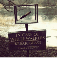 Memes, Glasses, and 🤖: IN CASE OF  WHITE WALKERS  BREAK GLASS  GAME THRONES  SM