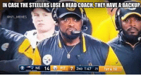 Good to know: IN CASE THE STEELERS LOSE A HEAD COACH THEY HAVE ABACKUP  @NFL MEMES  NE 14 e Pl  7 ND  1:47 25  1ST & 10 Good to know