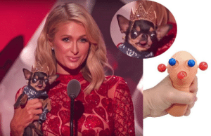 In case you missed it last night, here is Paris Hilton squeezing her dog: In case you missed it last night, here is Paris Hilton squeezing her dog