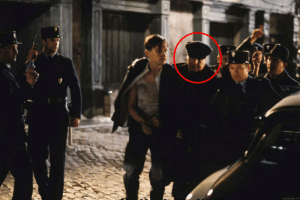 In Catch Me If You Can (2002), Frank Abagnale, who would go on to help the FBI catch criminals as a consultant after being released from jail, makes a cameo as the officer arresting DiCaprio in Montpellier.: In Catch Me If You Can (2002), Frank Abagnale, who would go on to help the FBI catch criminals as a consultant after being released from jail, makes a cameo as the officer arresting DiCaprio in Montpellier.