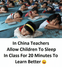 Sleep In Class: In China Teachers  Allow Children To Sleep  In Class For 20 Minutes To  Learn Better