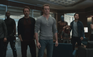 Avengers, Infinity, and Back: In Endgame they mention bringing people back which is a reference to Avengers: Infinity War