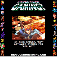 "Did You Know Gaming: IN FIRE EMBLEM, ""ROY  ACTUALLY STANDS FOR  RED BOY""  DIDYOUKNOWGAMING.COM"
