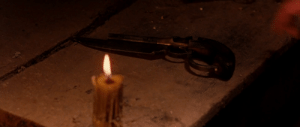 In Gangs of New York (2002) Leo Dicaprio intends to murder Danny Day Lewis with a gunblade, which I totally thought was a made up weapon for Final Fantasy VIII.: In Gangs of New York (2002) Leo Dicaprio intends to murder Danny Day Lewis with a gunblade, which I totally thought was a made up weapon for Final Fantasy VIII.