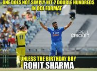 #HappyBirthday 2 times IPL winning captain #RGSharma  <mad>: IN GOD FORMAT  TROLL  Star  CRICKET  UNLESS THE BIRTHDAY BOY  ROHIT SHARMA #HappyBirthday 2 times IPL winning captain #RGSharma  <mad>