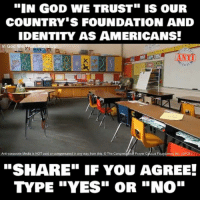 "Memes, Any Ways, and 🤖: ""IN GOD WE TRUST"" IS OUR  COUNTRY S FOUNDATION AND  IDENTITY AS AMERICANS!  God We ARus  ANTI  Anti-corporate Media is NOT paid or compensated in any way from this. O The Congres  nal Prayer Caucus Foundation, Inc. (CPCF)  ""SHARE"" IF YOU AGREE!  TYPE ""YES"" OR ""NO"""