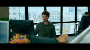 In Guns Akimbo (2019) Miles played by Daniel Radcliffe trolls people on the internet and gets his IP found out. This is because the entire movie is feature length VPN commercial in disguise.: In Guns Akimbo (2019) Miles played by Daniel Radcliffe trolls people on the internet and gets his IP found out. This is because the entire movie is feature length VPN commercial in disguise.