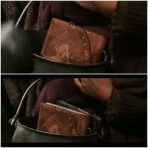 In Harry Potter and the Chamber of Secrets, you can see when Lucius Malfoy takes Ginny's book, but when he puts it back, he also gives her Tom Riddle's diary: In Harry Potter and the Chamber of Secrets, you can see when Lucius Malfoy takes Ginny's book, but when he puts it back, he also gives her Tom Riddle's diary