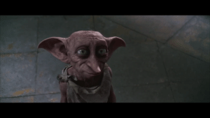 "Harry Potter, Life, and Never: In Harry Potter and the Chambers of Secrets, when Dobby is freed, Harry asks him to promise to ""never try to save my life again"". Dobby only answers with a ""Hmmm"" rather than yes. Later on in the Deathly Hallows, Dobby saves Harry's life and dies in the process."