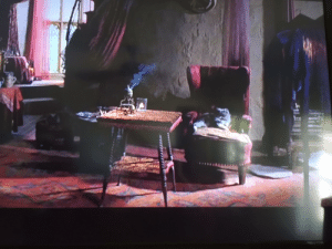 In Harry Potter and the Prisoner of Azkaban (2004), you can see a grey cat in the background of Professor Trelawney's classroom. This is Trelawney's pet cat (briefly explained in the Harry Potter wiki), this movie being its first and only appearance.: In Harry Potter and the Prisoner of Azkaban (2004), you can see a grey cat in the background of Professor Trelawney's classroom. This is Trelawney's pet cat (briefly explained in the Harry Potter wiki), this movie being its first and only appearance.