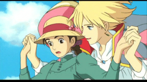 """In """"Howl's Moving Castle"""" (2004) when Howl saves Sophie from the guards at the beginning of the movie he says to her he's been looking for her, later in the film Sophie visits Howl in the past and tells him to find her in the future.: In """"Howl's Moving Castle"""" (2004) when Howl saves Sophie from the guards at the beginning of the movie he says to her he's been looking for her, later in the film Sophie visits Howl in the past and tells him to find her in the future."""