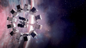 In Interstellar (2014) you can hear music during wide space shots even though there is no air in space to carry sound waves to our ears. This is because the movie is scientifically inaccurate according to Neil deGrasse Tyson.: In Interstellar (2014) you can hear music during wide space shots even though there is no air in space to carry sound waves to our ears. This is because the movie is scientifically inaccurate according to Neil deGrasse Tyson.