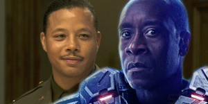In Iron Man (2008), James Rhodes is played by Terrence Howard. In Iron Man 2 (2010) onward, James Rhodes is played by Don Cheadle. This subtly foreshadows the Marvel Cinematic Universe's 'multi-verse'. Great attention to detail!: In Iron Man (2008), James Rhodes is played by Terrence Howard. In Iron Man 2 (2010) onward, James Rhodes is played by Don Cheadle. This subtly foreshadows the Marvel Cinematic Universe's 'multi-verse'. Great attention to detail!