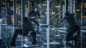 In John Wick 3, we can clearly see that Mr. Wick is a black belt fighter. We know this because he fights with a belt which is black.: In John Wick 3, we can clearly see that Mr. Wick is a black belt fighter. We know this because he fights with a belt which is black.