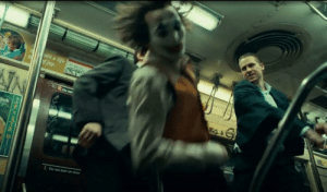 """In Joker (2019), you can tell the movie is fictional due to the use of his magical revolver when on the subway. The revolver magically reloads a bullet after each kill. Similar to the """"One in the Chamber"""" game mode found on Call of Duty: Black Ops. Thus allowing him to fire 8 shots without reloading: In Joker (2019), you can tell the movie is fictional due to the use of his magical revolver when on the subway. The revolver magically reloads a bullet after each kill. Similar to the """"One in the Chamber"""" game mode found on Call of Duty: Black Ops. Thus allowing him to fire 8 shots without reloading"""