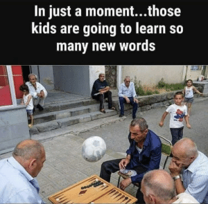 Kids, Moment, and Words: In just a moment...those  kids are going to learn so  many new words A Calm evening.wait ..nooo!!!