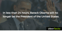 Memes, Uber, and Barack Obama: In less than 24 hours, Barack Obama will no  longer be the President of the United States.  uber  facts https://www.instagram.com/uberfacts/