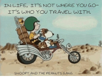 Whered You Go: IN LIFE, ITS NOT WHERE YOU GO  ITIS, wHO YOU TRAVEL wITH.  SNOOPY AND THE PEANUTS GANG