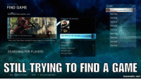~XyDz: IN LOBBY  V10  FIND GAME  SEARCHING FOR PLAYERS 1/10  Team Halo 2: Anniversary  VIEW MAPS IN THIS PLAYLIST  Playamk of Team Slayer and objective pame types on re-mastered maps  10  Minimum Player Count  Mas Party Sire  SEARCHING FOR PLAYERS  Ma Players  STILL TRYING TO FIND A GAME  Paca G career  X Rester Y Lant Carnage Report  mematic net ~XyDz