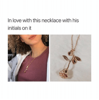 "Black Friday, Friday, and Love: In love with this necklace with his  initials on it necklace is from @malisticaco 😭 btw they still have a Black Friday sale active 😘 they gave me a 40% off code "" USA """