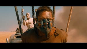 In Mad Max: Fury Road (2015) you keep hearing 2 guys talking through the movie. This is a subtle nod to the fact that I accidentally chose director's commentary and that my friend Dave won't shut the hell up.: In Mad Max: Fury Road (2015) you keep hearing 2 guys talking through the movie. This is a subtle nod to the fact that I accidentally chose director's commentary and that my friend Dave won't shut the hell up.