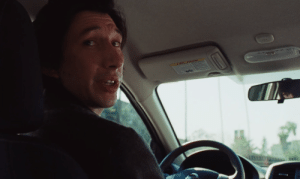 In Marriage Story (2019), Charlie Barber was seen driving a car. This is because he was played by Adam Driver.: In Marriage Story (2019), Charlie Barber was seen driving a car. This is because he was played by Adam Driver.