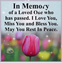 Love, Memes, and I Love You: In Memory  of a Loved One who  has passed. I Love You,  Miss You and Bless You.  May You Rest In Peace.  nderstanding  Compassion Understanding Compassion Group ❤️