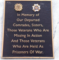 In Memory...: In Memory of  Our Departed  Comrades, Sisters,  Those Veterans Who Are  Missing In Action  And Those Veterans  Who Are Held As  Prisoners Of War In Memory...