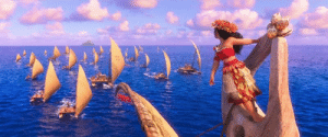"In Moana (2016) her grandma says their people stopped exploring after Maui stole the heart of Ta Fiti and boats stopped coming back, about 1,000 years before. This depicts an actual historical event in Polynesian history known as ""The Long Pause"". The reason for the pause is actually unknown.: In Moana (2016) her grandma says their people stopped exploring after Maui stole the heart of Ta Fiti and boats stopped coming back, about 1,000 years before. This depicts an actual historical event in Polynesian history known as ""The Long Pause"". The reason for the pause is actually unknown."