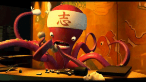 """In Monsters Inc. (2001), the Sushi restaurant Mike and Celia go to is called Harryhausen's - in honor of stop-motion animator Ray Harryhausen. The octopus chef in the restaurant has only six tentacles, a reference to the Harryhausen animated """"It Came from Beneath the Sea"""": In Monsters Inc. (2001), the Sushi restaurant Mike and Celia go to is called Harryhausen's - in honor of stop-motion animator Ray Harryhausen. The octopus chef in the restaurant has only six tentacles, a reference to the Harryhausen animated """"It Came from Beneath the Sea"""""""