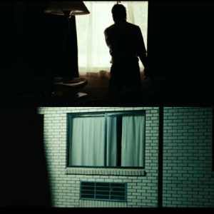 Curtains, Hotel, and Old: In No Country For Old Men, when Moss leaves his hotel room, he closes the curtains and crosses them. When he comes back at night in a cab, he decides to stay at a different hotel the next day. This is because he knows somebody (probably Anton) has been in his room and is following him be closely.