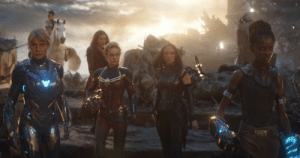 In order to tease the arrival of the Fantastic Four in the MCU, the Invisible Woman had a cameo in the all female scene in Endgame: In order to tease the arrival of the Fantastic Four in the MCU, the Invisible Woman had a cameo in the all female scene in Endgame
