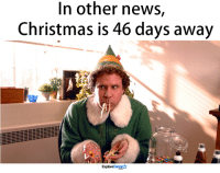 Memes, Santa, and 🤖: In other news,  Christmas is 46 days away  Explore Talen SANTAS COMING!!!!🎄✨🎅