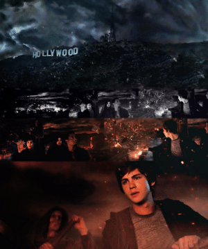 In Percy Jackson: Something About a Lightningbolt or Whatever the entrance to hell is under the Hollywood sign. This is a reference to the fact that Hollywood is the source of all the corruption and evil in the world.: In Percy Jackson: Something About a Lightningbolt or Whatever the entrance to hell is under the Hollywood sign. This is a reference to the fact that Hollywood is the source of all the corruption and evil in the world.